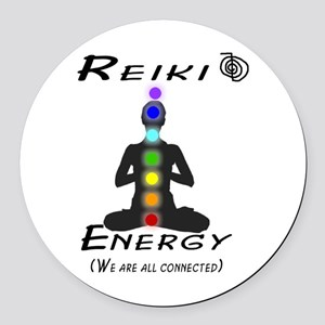 Reiki Energy All Connected Round Car Magnet