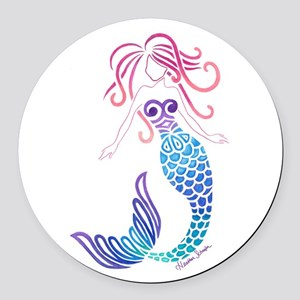 Tribal Mermaid Round Car Magnet