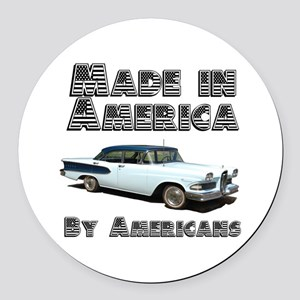 Made in America Round Car Magnet
