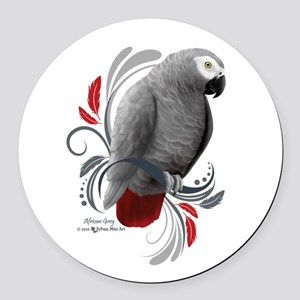 African Grey Round Car Magnet