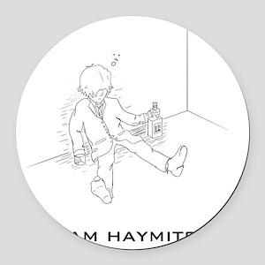 Hunger Games Team Haymitch Dark Round Car Magnet