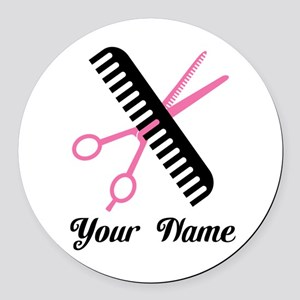 Personalized Stylist Round Car Magnet