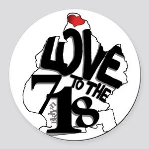 Love to the 718 (Brooklyn) Round Car Magnet