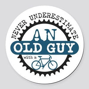 Old Guy Round Car Magnet