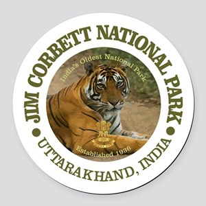 Jim Corbett National Park Round Car Magnet
