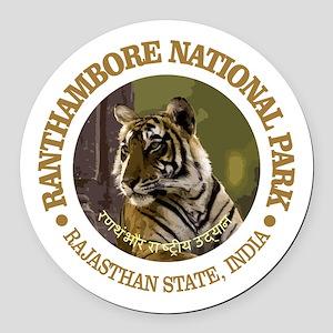 Ranthambore NP Round Car Magnet