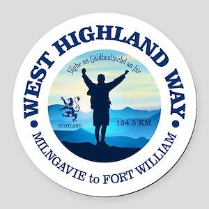 West Highland Way Round Car Magnet
