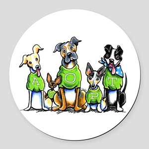 Adopt Shelter Dogs Round Car Magnet