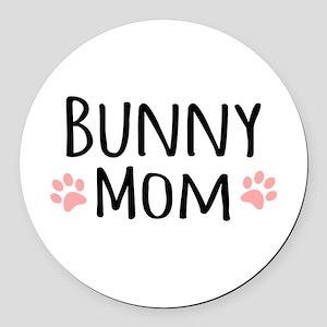 Bunny Mom Round Car Magnet