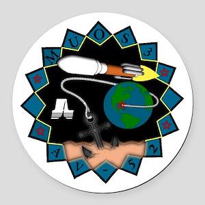 MUOS-3 Round Car Magnet