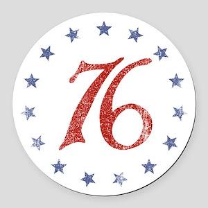 Spirit of 1776 Round Car Magnet