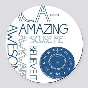 ACA-WHAT Round Car Magnet