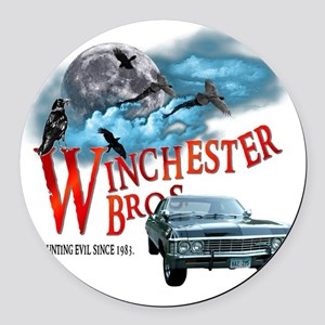 Winchester Bros Hunting Evil Sinc Round Car Magnet