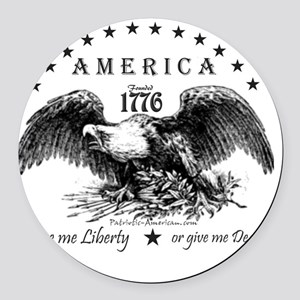 American Eagle Round Car Magnet