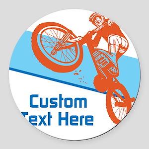 Custom Motocross Bike Design Round Car Magnet