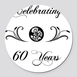 60th Wedding Anniversary Gifts Round Car Magnet