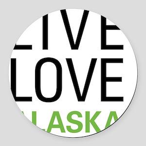 liveAK Round Car Magnet