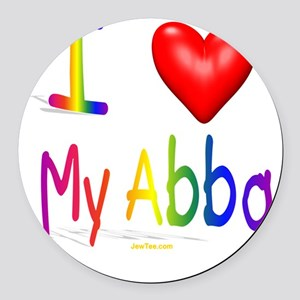 I Love My Abba flat Round Car Magnet