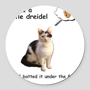 Hannukah Dreidel Cat Round Car Magnet
