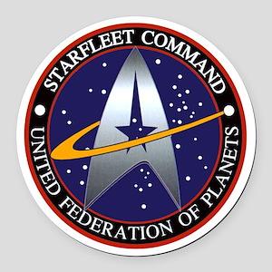 Starfleet Command Round Car Magnet
