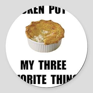 Chicken Pot Pie Round Car Magnet