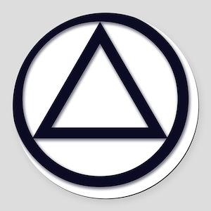 A.A._symbol_LARGE Round Car Magnet