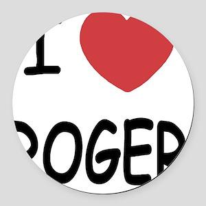 I heart ROGER Round Car Magnet
