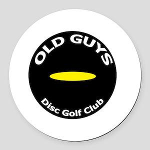 Old Guys Disc Golf Club Round Car Magnet