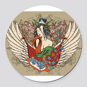 Asian Beauty Round Car Magnet