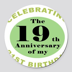 Funny 40th Birthday Round Car Magnet