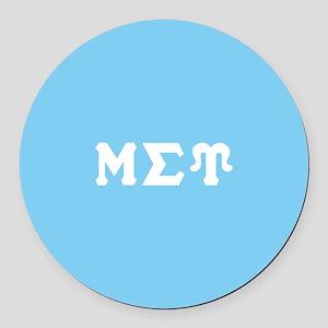 Mu Sigma Upsilon Sorority Letters Round Car Magnet