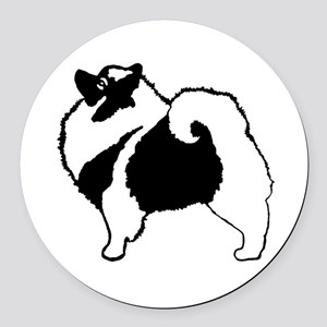 Keeshond Graphics Round Car Magnet