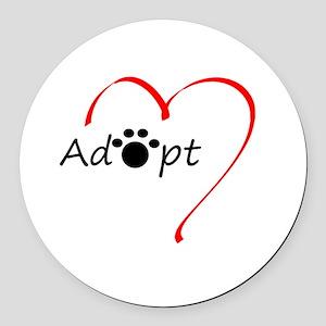 Adopt Round Car Magnet