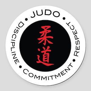 Judo Logo circle Round Car Magnet
