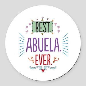 Best Abuela Ever Round Car Magnet