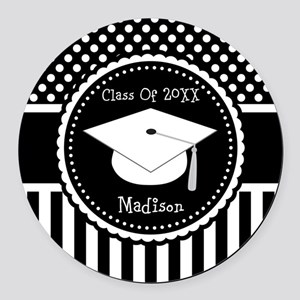 Graduation Personalized Dotted Gift Round Car Magn