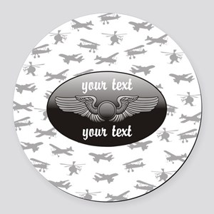 Personalized Aviation Round Car Magnet