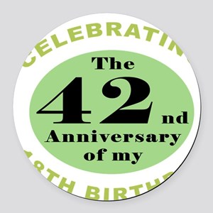 Funny 60th Birthday Round Car Magnet