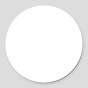 My ADD White Round Car Magnet