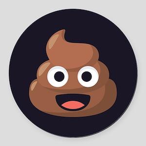 Poop Emoji Round Car Magnet