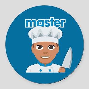 Emoji Master Chef Round Car Magnet
