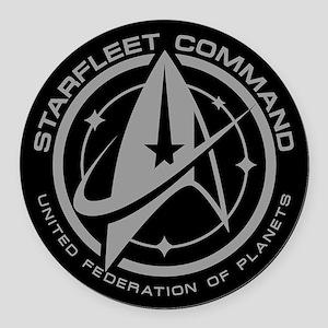 Grey Starfleet Command Emblem Round Car Magnet