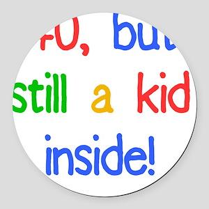 KidInside_40 Round Car Magnet