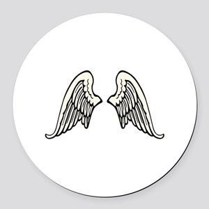 ANGEL WINGS Round Car Magnet