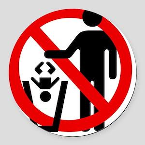 No-Trashing-Babies Round Car Magnet