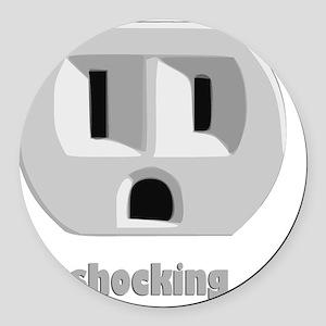 shockingDARK Round Car Magnet