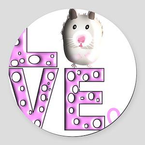 Hamster Round Car Magnet