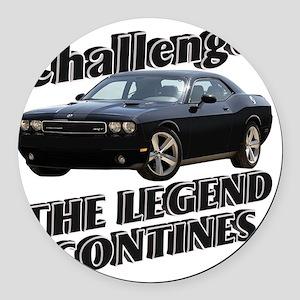 AD29 CP-LAPTOP SKIN Round Car Magnet
