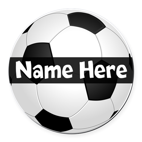 Personalized Soccer Ball Round Car Magnet By Cutetshirtsgift