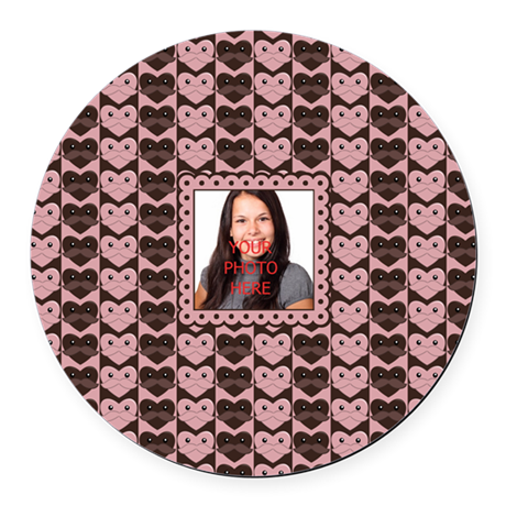 Personalized Add Your Own Image Round Car Magnet